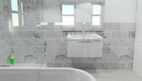 An Example Created By Our Bathroom CAD Software.