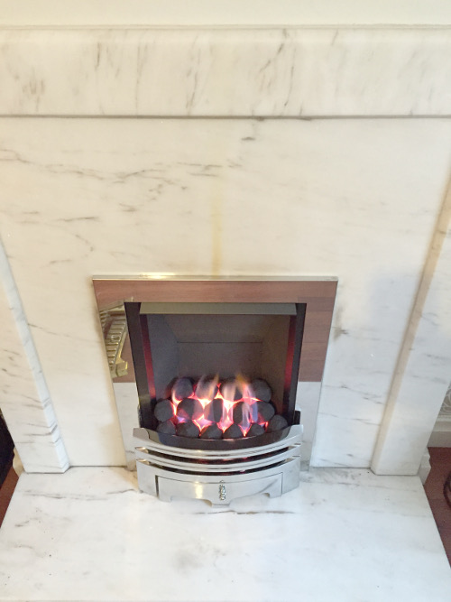 Gas Fire Fireplace Installation Photographs In Liverpool