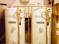 Multiple unvented cylinders installed for care home in Woolton